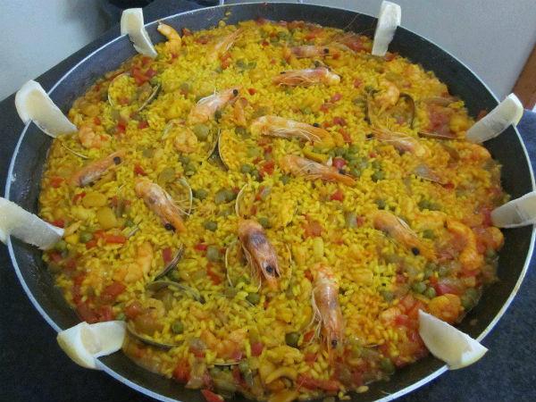 Paella La Marisquería Chiclana Cadiz
