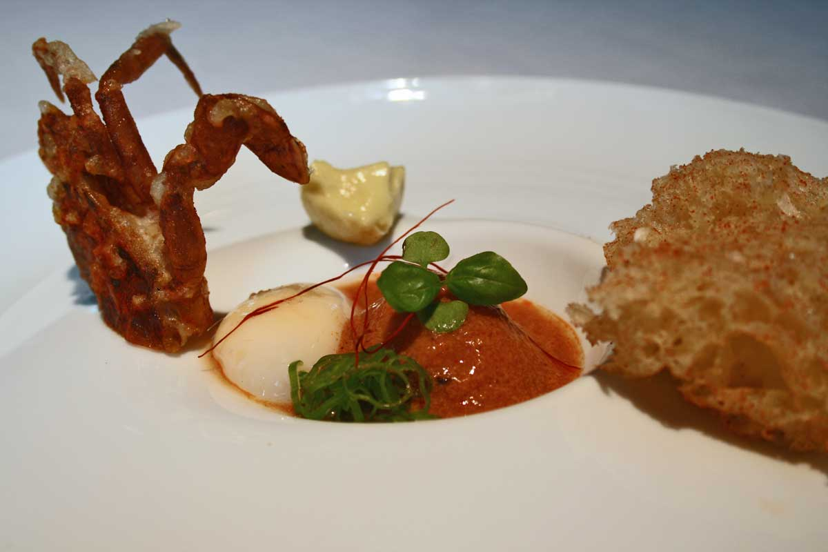 Plato en DiverXO (chili crab)