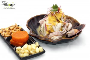 Tumbesino (apio – huevo - pescado – mostaza – molusco – crustáceos )                                                                                                             Pescado / Chipiron / Pulpo / Langostinos  / Leche de Tigre.