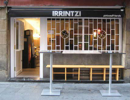 Bar Irrintzi Pintxos Bilbao Fachada