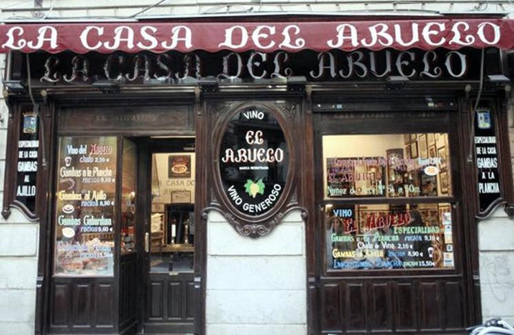 Taberna La Casa del Abuelo Victoria Madrid