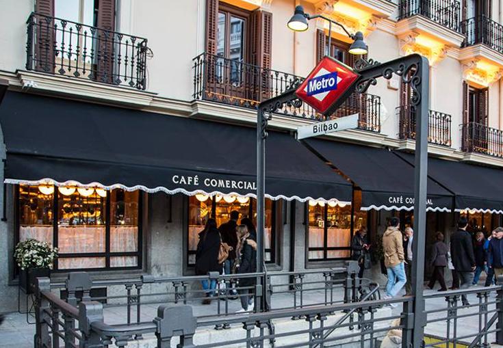 Cafe Comercial Madrid Fachada Restaurante
