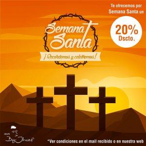 20% descuento (solo en carta) solo en Semana Santa