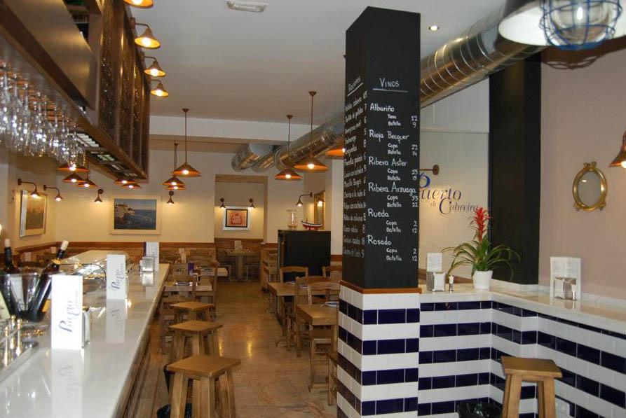 El puerto de cabreira calle velarde 13 madrid for Restaurante puerto rico madrid