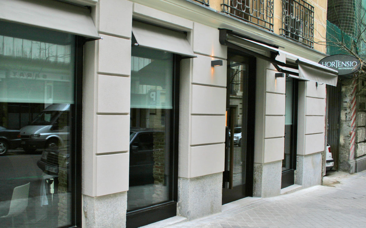 Restaurante Hortensio en la calle Marqués de Riscal de Madrid