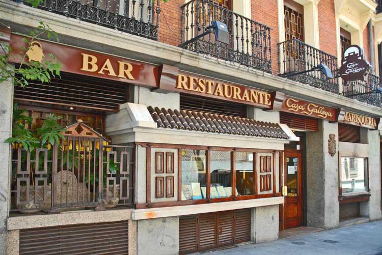 Restaurante Casa Gallega Madrid Fachada