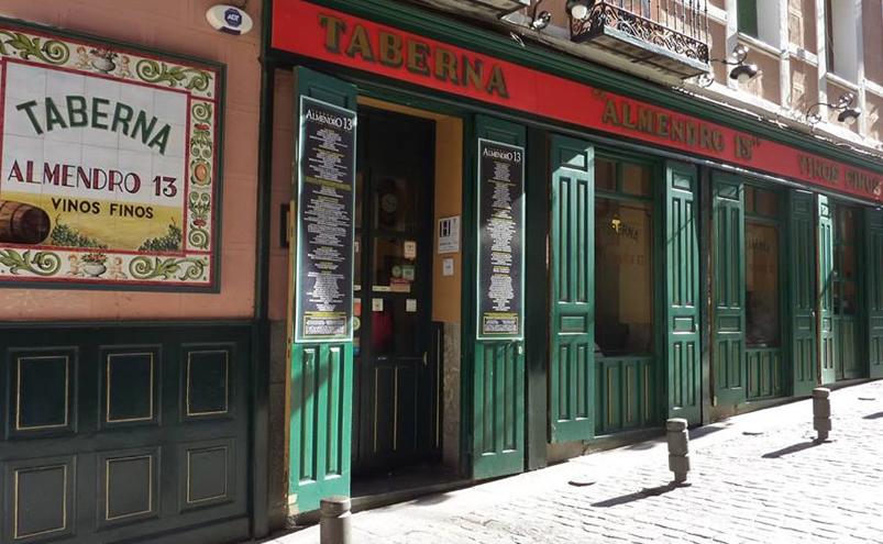 Almendro 13 Taberna Madrid Fachada
